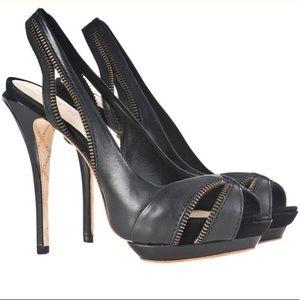 L.A.M.B. Dawna Black Stilettos